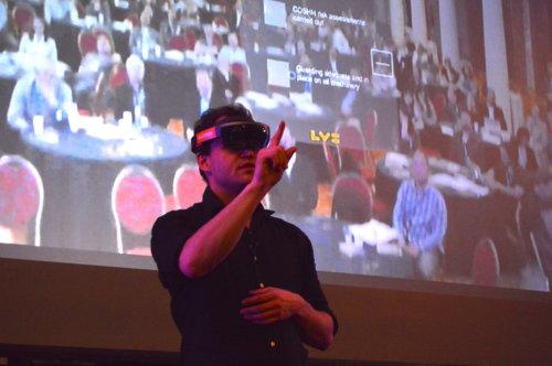 Presenter on stage during ARVR Innovate 2017